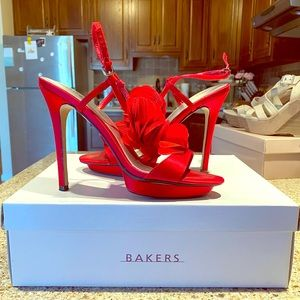 Red Bakers Heels
